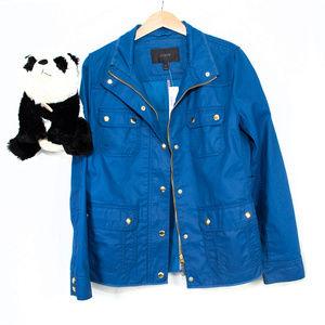 New blue J. Crew zip, button jacket